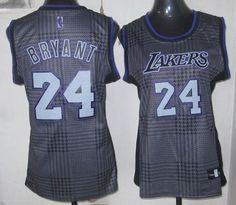 887480540cd ... Lakers 24 Kobe Bryant Black With Gold NO. Women Fashion Embroidered NBA  Jersey! Only ...