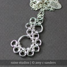 Shenandoah Pendant Chainmaille Kit in Silver Fill. $24.25, via Etsy.