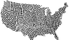 "The image above is part of a larger image called ""World Fingerprint""—which shows each of the world's countries, including the United States, with surfaces that appear to be carved from a fingerprint. It was created by photographer Adrian Sawvel, who used Vector graphics—a printing technology that uses geometrical elements like points, lines, curves, figures and polygons as well as mathematical equations—to represent an image."