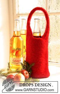 """DROPS Extra 0-729 - Tovet DROPS flaskeskjuler til jul i """"Eskimo"""". - Gratis oppskrift by DROPS Design"""