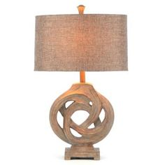 Gray Driftwood Knot Table Lamp $59.99