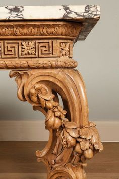 A George II Carved Side table Attributed to William Linnell the Design Possibly by John Linnell Woodworking Furniture, Wood Furniture, Antique Furniture, Carving Designs, Wow Art, Stone Carving, Wood Carvings, How To Antique Wood, Classic Furniture