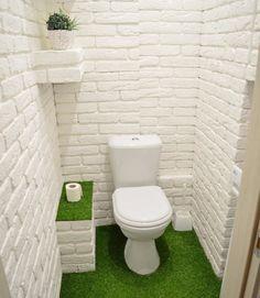 Space Saving Toilet Design for Small Bathroom - Home to Z Space Saving Toilet, Small Toilet Room, Bathroom Tile Designs, Bathroom Design Small, Toilet Design, Minimalist Room, French Home Decor, Small Room Bedroom, Bathroom Interior