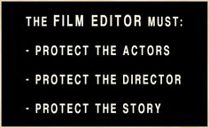 3 things every FILM EDITOR must do... and it has nothing to do with technology.