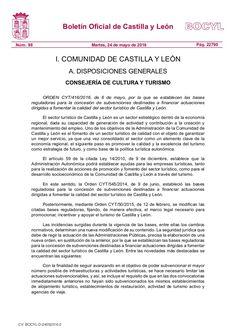 Bases reguladoras para la concesión de subvenciones destinadas a financiar actuaciones dirigidas a fomentar la calidad del sector turístico de Castilla y León.
