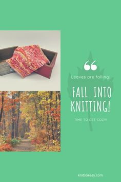 Fall and knitting = cozy & fun Knit So Easy patterns are quick & easy and beginner friendly. Patterns featured: East Burke Knitted Washcloths, Knitted Hats, Fall Knitting, Dishcloth Knitting Patterns, Way Down, Getting Cozy, Knitting For Beginners, Easy Projects, Washing Clothes