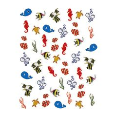 Nail Art Decals - Ocean Life  NA09-36 > they are even cuter in person!!