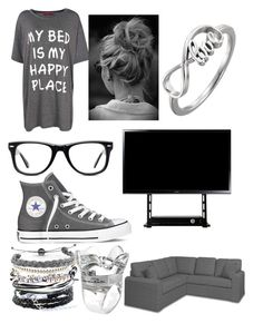 """""""Meanwhile at the Bae's house..."""" by i-liebe-anime ❤ liked on Polyvore featuring Boohoo, Muse, Converse, Domo Beads and Oscar de la Renta"""