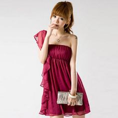 Buy 'JK2 – One-Shoulder Ruffled Minidress' with Free International Shipping at YesStyle.com. Browse and shop for thousands of Asian fashion items from China and more!