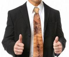 Show Off Your Hairy Torso With This Neck Tie #IncredibleThings