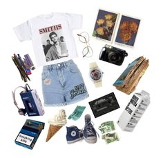 """son + heir"" by hazerdazer ❤ liked on Polyvore featuring Topshop, Benetton, Fujifilm, Converse, American Apparel and Each X Other"