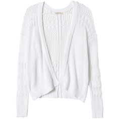 Rebecca Taylor Textured Knit Cardi ($295) ❤ liked on Polyvore featuring tops, cardigans, sweaters, jackets, outerwear, sea salt, slim fit cardigan, loose fitting tops, loose tops and rebecca taylor top