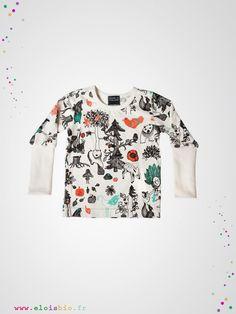 T-shirt Enchanted Forest au graphisme original et inattendu. Il sera facile à combiner aux autres vêtements de votre enfant.