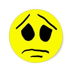 Despair Smiley Face Sticker