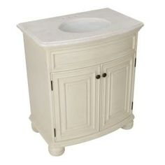 Celeste 31 in. Vanity in Vanilla with Hand-Crafted Stone Vanity Top in Beige with White Basin-PPAFVAN30Y at The Home Depot