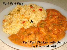 Peri Peri Rice & Peri Peri Chicken with Sauce | Fauzia's Kitchen Fun