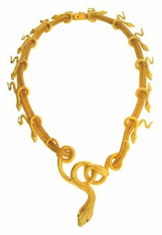 """""""Gold snake necklace, Lalaounis"""""""