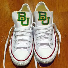 9b34922a1 Customized Converse Sneakers- Baylor Edition. Converse SneakersAll StarEye  CandyMonogramMonogram ...