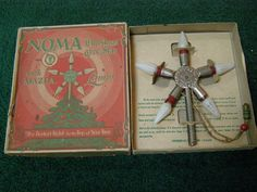 Vintage Noma Christmas tree topper with Mazda lamps