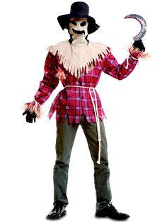 Disfraces adultos (chico/a) (13 a 100 años) - 02 - Terror -- ChicOs -Disfraz Ad. Espantapajaros Tenebroso. Darth Vader, Halloween, Fictional Characters, Adult Costumes, Costume, Guys, Manualidades, Halloween Stuff