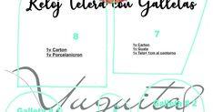 magdalenabueno manualidades y de todo ,lectura ;decoración etc. Todo es material de la web .: reloj tetera navideño cartonage, de yuguita Ideas Navideñas, Chart, Xmas, Craft, Tea Pots, Felt Doll Patterns, Aprons, Wood, Creative Crafts