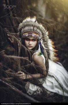Native Girl - stock photo