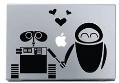 "Vati Leaves Removable Creative Robot Love EVE And WALL ¡¤ E Decal Sticker Skin Art Black for Apple Macbook Pro Air Mac 13"" 15"" inch / Unibody 13"" 15"" Inch Laptop"
