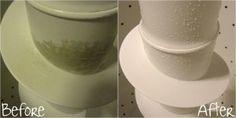 LIMPIAR LAVADORA Paso 1: Llene la lavadora y vierta 2 tazas de vinagre blanco. Deje reposar durante 1 hora. Paso 2: Iniciar la lavadora de nuevo y deje que funcione durante un ciclo completo. Paso 3: Llene la lavadora de nuevo y vierta 2 tazas de cloro. Dejar en remojo durante 1 hora. Paso 4: Reinicie la lavadora y déjela funcionar durante un ciclo completo.  http://gardenercommunity.blogspot.com.es/search?updated-max=2013-03-11T19%3A18%3A00Z&max-results=7#PageNo=3