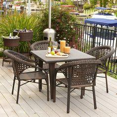 Louisiana 5-Piece Outdoor Wicker Dining Set