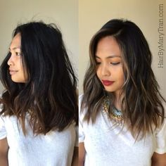 Face framing highlights and balayage Ombre with a long bob cut | Yelp