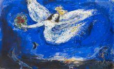 Marc Chagall - Maquette pour le rideau de scène de L'Oiseau de feu; 1945