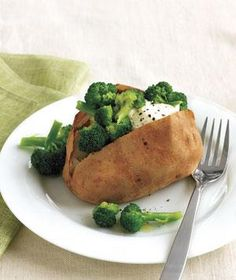 Baked Potatoes With Broccoli and Sour Cream | undefined