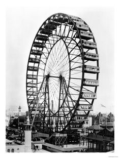 The Ferris Wheel at the World's Columbian Exposition of 1893 in Chicago Giclee Print