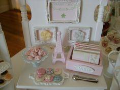 Shabby Dollhouse miniatures | shabby chic Paris miniatures