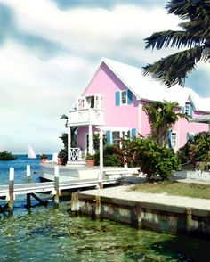 Bahamas House (Watercolor)