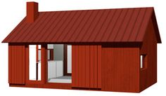 –Back Yard House/small house for permanent residence. Permit free in Sweden (Attefall). From Arvesund Living. Scandinavian Cottage, Studio Build, Compact Living, Saunas, Tiny House, Gazebo, Sweet Home, Backyard, Outdoor Structures