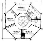 Nice Octagon Home Plans #6 Octagon House Plans