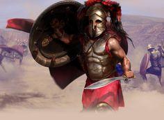 Pausania, re reggente di Sparta, durante la battaglia di Platea, che darà definitivamente la vittoria ai greci