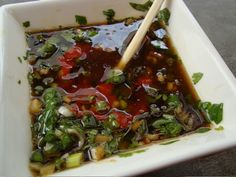 Spicy Asian Dipping Sauce--I also use this to marinate tuna and with pasta