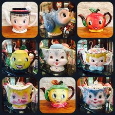Bob's ❤️ teapots! Vintage Kitchenware, Vintage Dishes, Vintage Ceramic, Vintage Pyrex, Atomic Decor, Retro Vintage, Vintage Items, Vintage Stoves, Vintage Cookies
