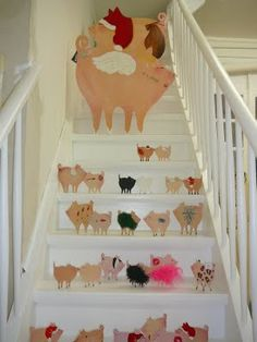xmas pigs ...I don't know enough to know.  Is this a THING?  because it's so random...and we love random.