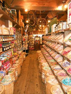 Rau's Country Store    An old-fashioned pickle barrel, penny candy, vintage metal advertising signs, linens and lace, and nostalgia-theme lunch boxes are just some of the things you'll find inside Rau's Country Store. The Frankenmuth shop, located inside a 106-year-old former hotel, stuffs its finds in what feels like a quirky maze