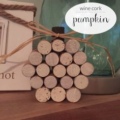 Get in the fall spirit and make a pumpkin out of wine corks!