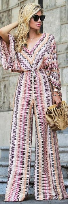 Get This Beautiful Knit Jumpsuit That Will Make Heads Turn - How To Style By Bs http://ecstasymodels.blog/2017/10/08/jumpsuit-will-make-heads-turn-style-bs/ Palazzo Pants, Palazzo Jumpsuit, Chic Outfits, Spring Outfits, Jumpsuits For Women, Playsuit, Everyday Fashion, Overalls, Looks