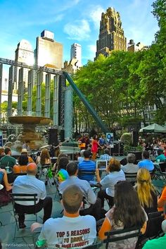 NYC. Manhattan. After Work- @alternateroutes' concert on the Fountain Terrace @BryantPark.