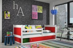Kinderbett Nico mit Bettkasten - Weiß