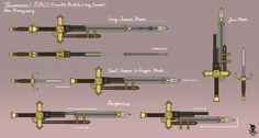 Fantasy Blade, Fantasy Sword, Fantasy Weapons, Anime Weapons, Sci Fi Weapons, Weapon Concept Art, Stranger Of Sword City, Samurai Warrior Tattoo, Rwby Oc