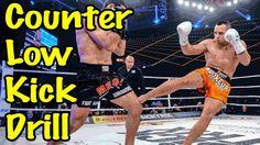Muay Thai Kick Drill - Countering With Low Kicks