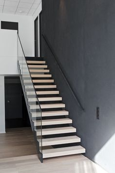 Glass Railing, Modern Staircase, Steel Frame, Finland, Stairs, Shape, Lights, Website, Modern Living