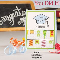 You Did It! from the Summer 2016 issue of CardMaker Magazine. Order a digital copy here: https://www.anniescatalog.com/detail.html?prod_id=131255